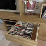 Meuble TV - Détails tiroirs DVD