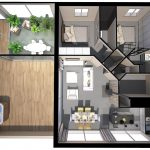 Appartement Mons Lauze Plan 3D