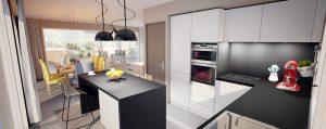 Appartement Mons Lauze Cuisine